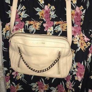 B Makowsky Cream Shoulder Bag with Chain